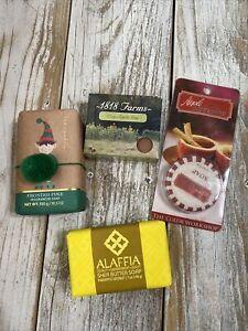Lot (4) Soaps - NEW - Frosted pine Apple cinnamon Pineapple Coconut Crisp Apple