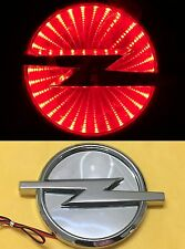 Waterproof 3D LED Car Logo Light Red Light Auto Badge Rear Emblems Lamp For Opel