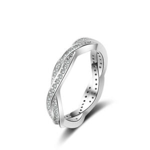 Women Rose Gold / Silver Ring Geometric Rhinestone Delicate Finger Ring Jewelry