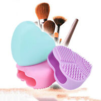 2017 Women Silicone Heart-Shaped Makeup Brush Glove Beauty Hand Cleaning Tool