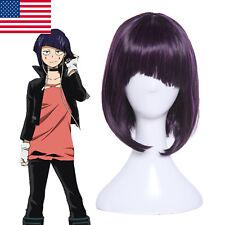 My Hero Academia Jiro Kyoka  Cosplay Hair Wig Short Purple Unbalanced Hair