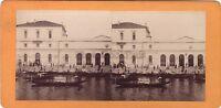 Venezia Stazione Italia Foto Stereo Vintage Albumina Ca 1875