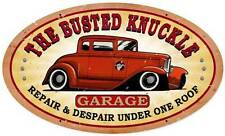Busted Knuckle Garage Hot Rod Repair Retro Metal Sign Man Cave Shop Club Bust022