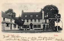 THE OLD COCK HOTEL Sutton Surrey 1903 Original Postcard (PCA2)
