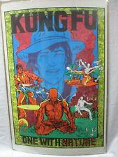 KUNG FU  TV SERIES BLACK LIGHT PSYCHEDELIC VINTAGE POSTER  1973 CNG629