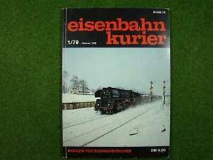 Magazin für Eisenbahnfreunde  >> Eisenbahnkurier 1/78 << | 78 Seiten | d276