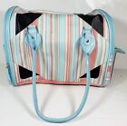 """Stylish Pet Travel Carrier 15"""" x 9"""" x 12"""" L. Blue - For Small Pets - No Mats"""