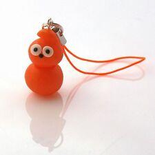 phone charm Zingy Bag Charm Handmade Cute Gift orange blob man flame