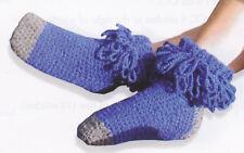 Crochet Pattern ~ WOMEN'S LOOPY SOCKS ~ Instructions