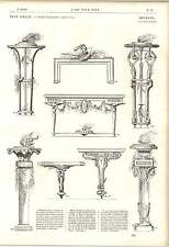 1862 Furnishing Decor Salembier Tripods Frames Tables Sheaths Artwork