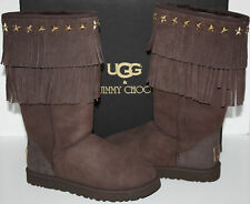 NIB Womens UGG Jimmy Choo Sora Chocolate Boots Size 10