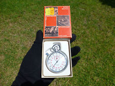 Rare Vintage SWISS Stoppuhr Mechanical Wind Up Stop Watch With Original Case