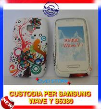 Custodia + Pellicola TPU ROSA FANTASIA COLOR per Samsung Wave Y S5380