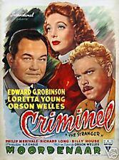 Orson Welles : The Stranger : Belgian Poster : Repro