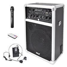 Pyle PWMA170 400W Wireless Speaker W/ 3 Microphones System USB/SD AUX Input