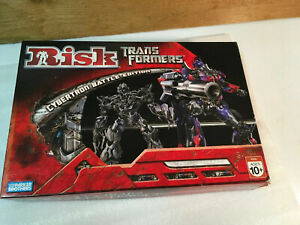 Parker Brothers Risk Transformers Cybertron Battle Edition Board Game 2007