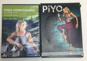 Lot of 2 Yoga Conditioning Piyo Beach Body Exercise Video DVD Set
