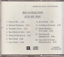 bloodloss live my way cd  limited edition