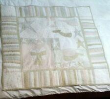 "Angel Themed Baby Crib Quilt 39"" × 39"""