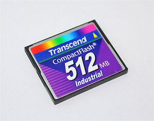 Transcend 512MB CompactFlash Card Type I Industrial Grade CF Card 512MB
