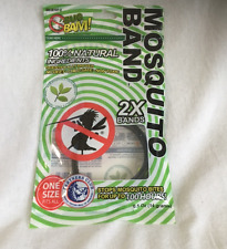 New Bug Bam Mosquito Band Bracelet, Black, 2-pack