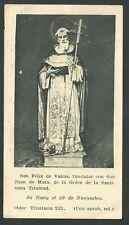 image pieuse de San Felix de Valoais holy card santino estampa