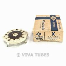 Nos Nib Centralab Model X Rotary Switch Section Wafers 1 Pol 6 Pos Non Shorting