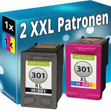 2x Patronen für HP 301-XL DeskJet 1514 2054a 2510 2514 2542 2543 2544 2547 2548