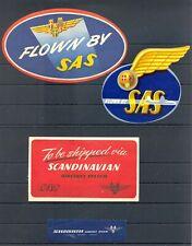 SWEDEN AVIATION -- 4 x VINTAGE LABEL = SAS = F/VF