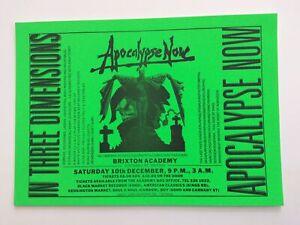 Apocalypse Now - Rave Flyer - December 1989