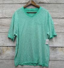 Parish Nation Mens Size 2XL Mint Green Slub V Neck T Shirt New No Tag