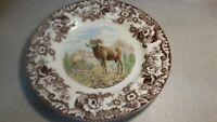 Spode woodland set of 4 Big Horn Sheep dinner plates