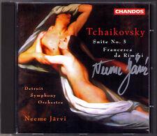 Neeme JÄRVI Signed TCHAIKOVSKY Suite No.3 Francesca da Rimini CD JARVI Chandos