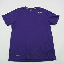 Nike Short Sleeve Athletic Shirt Purple Short Sleeve Workout Clothing Medium