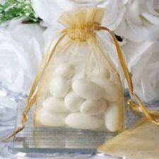 50x Gold Organza Bags Wedding Baby Shower Favour Bag Commercial Soap Candle Gift