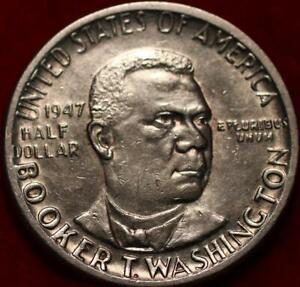 1947 Philadelphia Mint Booker T Washington Silver Comm Half