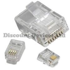Phone Computer PC Modem Connectors 4P4C 6P4C 8P8C RJ9 RJ11 RJ45 CAT5 Plugs