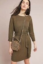 NWOT! Anthropologie Utility Shirtdress by Three Dots! Moss Green! Large! Tencel