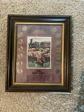 The Way West Buffalo Nickel (14) Count Coin Set Collector's Framed