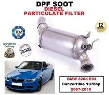 DPF Diesel Filtro de partículas de hollín para BMW 320d E93 Convertible 197bhp 2007-2010