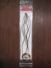 Fly Tying Whiting 100's Saddle Hackle Grizzly dyed March Brown- sz#20