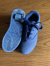Heelys Boys Size 3 Youth Skate Shoes (Wheel In Heel)Great Condition Navy Blue