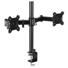 Dual Monitor Mount Desk Stand Adjustable Arm Tilt Swivel Rotate VESA Bracket