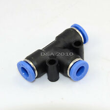 Pneumatic Tee Union Nylon Tube OD 6mm One Touch Push In Air Fitting Quality