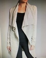 CAPTURE WOMENS DRAPE CABLE CARDIGAN OATMEAL SIZE XLARGE *NEAR  NEW*