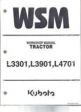 Kubota L3301, L3901, L4701 Tractor Workshop Service Repair Manual 9Y111-10120
