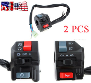 "2PCS 7/8"" Motorcycles Handlebar Headlight Controller Refit Start Switch Assembly"