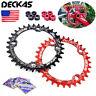 DECKAS BCD104mm 32T 34T 36T 38T Chainring + Bolts MTB Bike Narrow Wide Sprocket