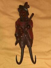 Vintage Fox Black Forest? Wood Whip Hook Hanger Holder Chamois Horns? Look!