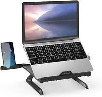 Laptop Stand, Multi-Angle Adjustable Ergonomic Notebook Riser Desk 9-Level